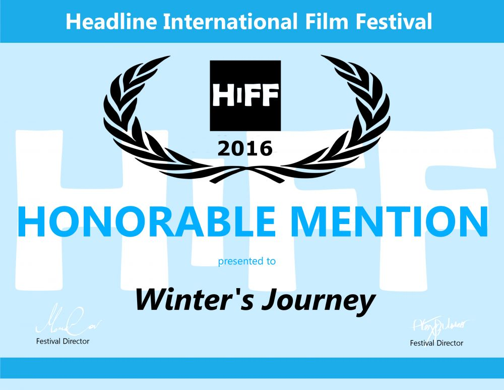 Winter's Journey- Honorable Mention Certificate